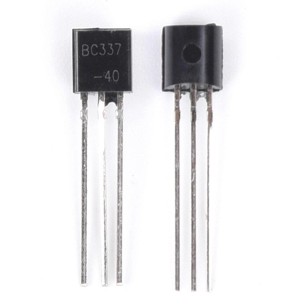200Pcs Transistors Kit,10 Values Silicon Transistors Assortment with Transparent Box Convenient Storage for Electronic Professionals