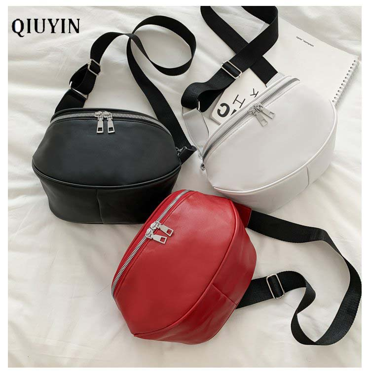 Qiuyin Pouch Cute Waterproof Belt Bag Women 's Waist Bag Crossbody Fanny Pack Kidney Bag Chest Bag Phone Pack Korean Bum Leather