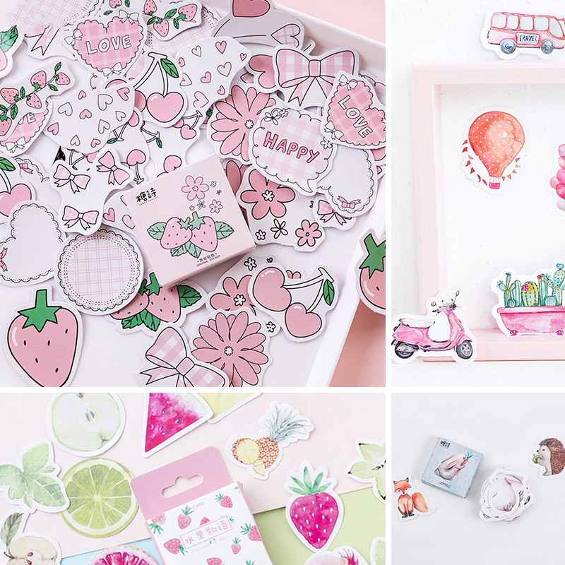 Paper-Stickers Stationery Planner Journal Scrapbooking Diary Cute Kawaii 45pcs/Box title=