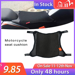 Motorcycle Seat Cover Breathable 3D Mesh Net Cushion Breathable Anti-Skid Moped Cushion Cover Cafe Racer Selle Moto