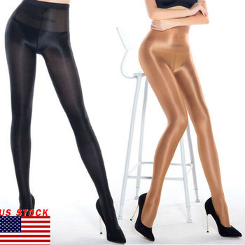 Dance Performance Pantyhose Stockings Lingerie Casual Womens 70D Reflective фото