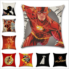 Super hero the flash comic printed Cushion Cover Decoration Home sofa chair seat kids bedroom gift friend present pillowcase deadpool movies comic printed cushion cover party decoration for home house sofa chair seat pillow case kids gift friend present