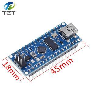 Image 4 - 10 pièces Nano 3.0 contrôleur compatible avec Arduino nano CH340 pilote USB pas de câble NANO V3.0