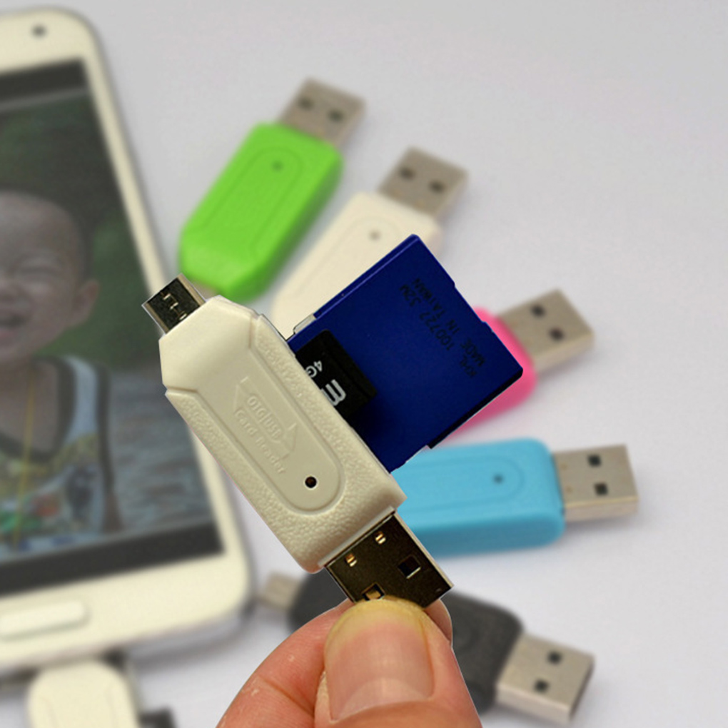 Mini USB 2.0 Memory Card Adapter Cellphone Camera SD TF Mini SD SDHC Memory Card Micro USB OTG Card Reader Adapter