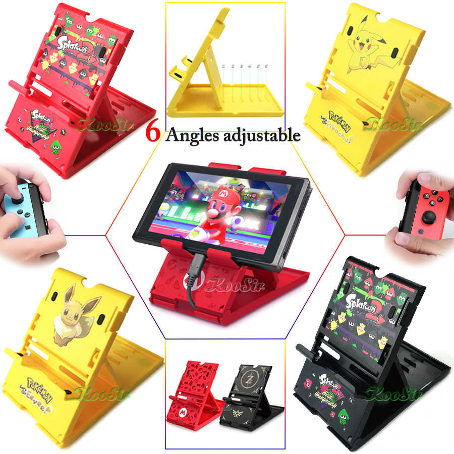 Nitendo Nintend Switch Portable Adjustable Stand Nintendoswitch Konsol Case Bracket Pemegang untuk Nintendo Switch