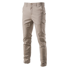 NEGIZBER Casual Cotton Men Trousers Solid Color Slim Fit Men #8217 s Pants New Spring Autumn High Quality Classic Business Pants Men cheap Spring and Autumn Straight CN(Origin) Spandex Daily Flat Button Regular 30 - 38 PM12 Midweight Broadcloth Full Length Zipper Fly
