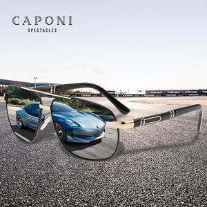 Image 3 - CAPONI 2020 männer Sonnenbrillen Fahren Polarisierte Brillen Marke Vintage Platz Anti Ray UV Schützen Sonnenbrille Für Männer CP0960