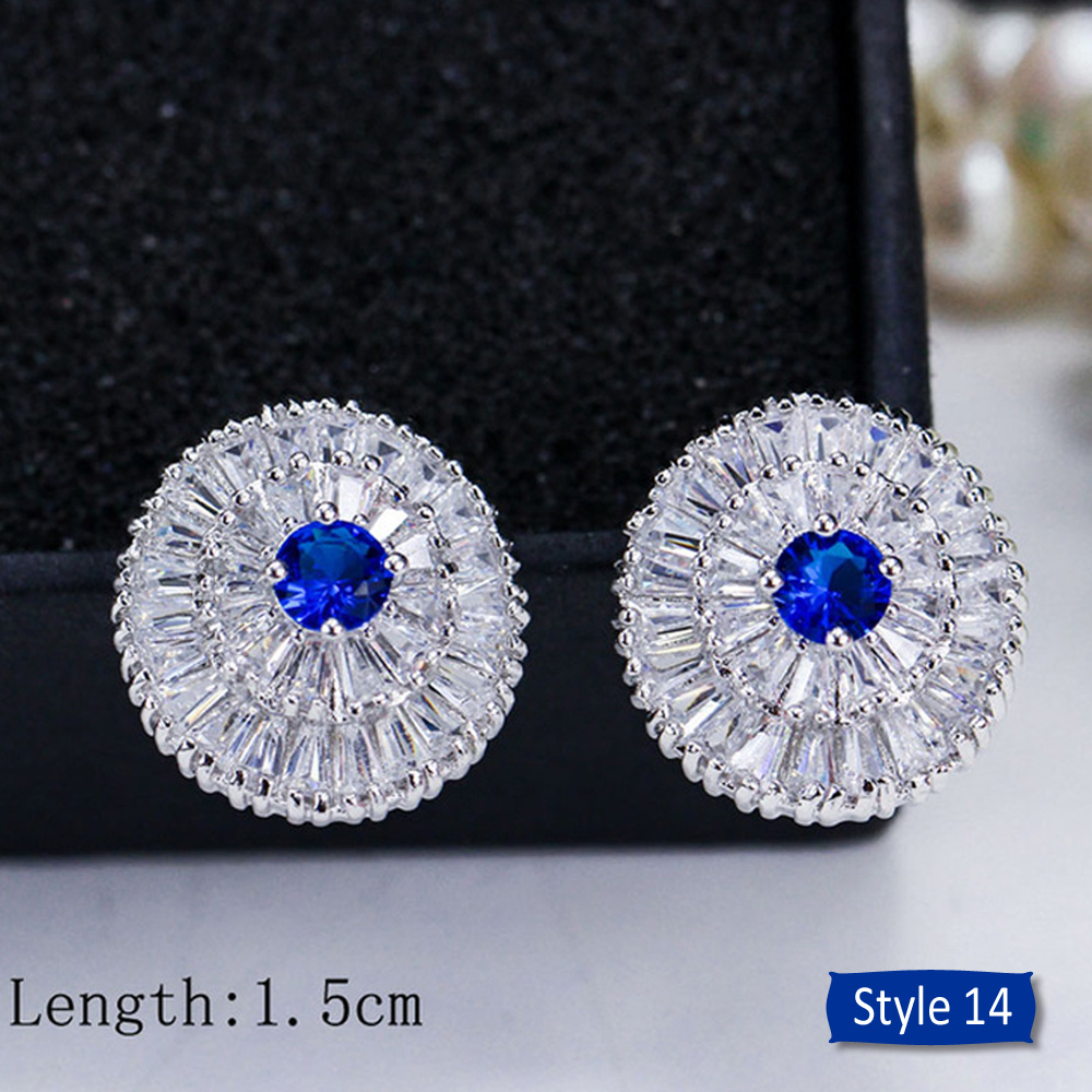 H9233c6099aa74ba0a3711eaf49a9140af - ThreeGraces Noble Big Cubic Zirconia Dark Blue Crystal Earring for Women Statement Round Flower Dangle Teardrop Earrings ER011