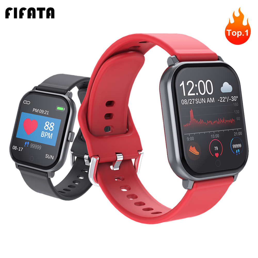 FIFATA Smart Watch Men Women Sports Fitness Bracelet Heart Rate Blood Pressure / Oxygen <font><b>Smartwatches</b></font> PK Amazfit GTS W68 <font><b>P70</b></font> B57 image