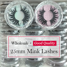 Wholesale 25Mm Bulu Mata 5D Mink Bulu Mata Massal Penuh Strip 3D Mink Bulu Mata Make Up Tebal Panjang Dramatis Bulu Mata Palsu finmoo(China)