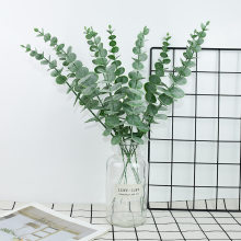 5pcs Artificial Plant Plastic Eucalyptus Leaves Flower for Wedding Flower Bouquet Home Room Decoration Simulation Green Plant