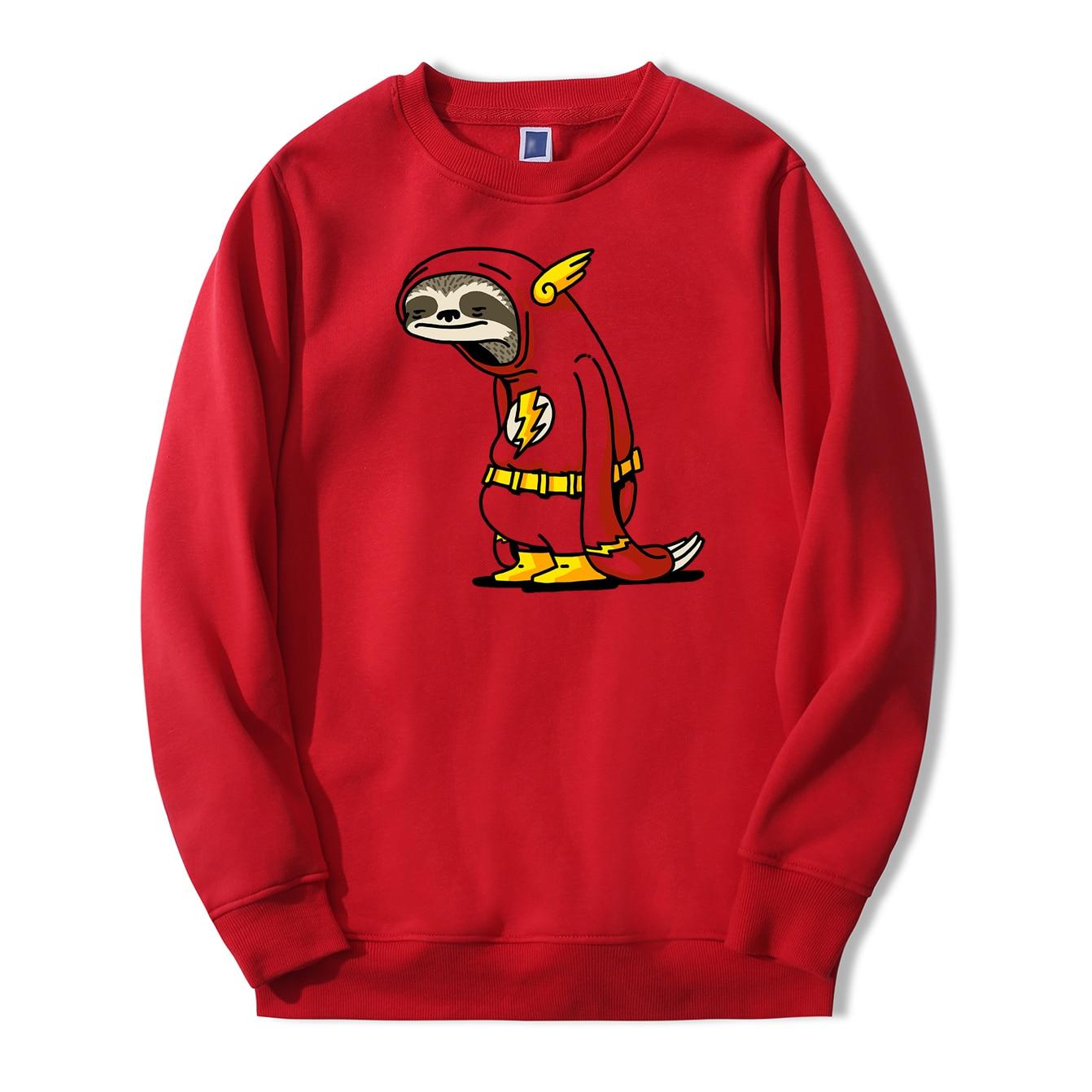 Cartoon The Flash Sweatshirts Men 2019 Autumn Winter Fashion Men Hoodies Fleece High Quality Tracksuit Harajuku Cute Pullover
