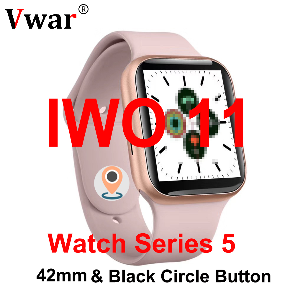 IWO 11 GPS Smartwatch 42mm Watch Series 5 Heart Rate Smart Watch case for apple iPhone Android phone better than IWO 6 7 8 9 10 image