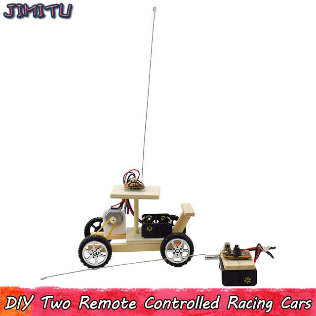 1 Set RC Car Models Assembled Toys Creative Racing Vehicle Model Kits Assembly Experiment Toy for Boy DIY Study Education Kit 1