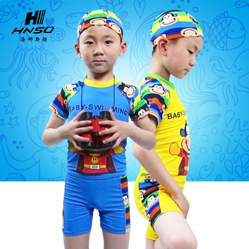 Children Quick-Dry Boxer Cold Bathing Suit BOY'S Swimming Trunks Split Type One-piece Winter Hot Springs Swimming Equipment