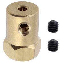 10 unids/lote Flexible neumáticos de 7mm conector acoplador de acoplamiento de Motor de cc 12mm hexagonal 18mm de longitud para RC coche Robot DIY(China)