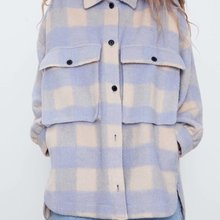 2020 new Spring Summer New Style European Plaid Loose Fit female Shirt Coat zara