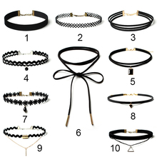 10pcs/Pack Gothic Simple Jewelry Polo Fake Collar Choker Necklace Set Creative Model