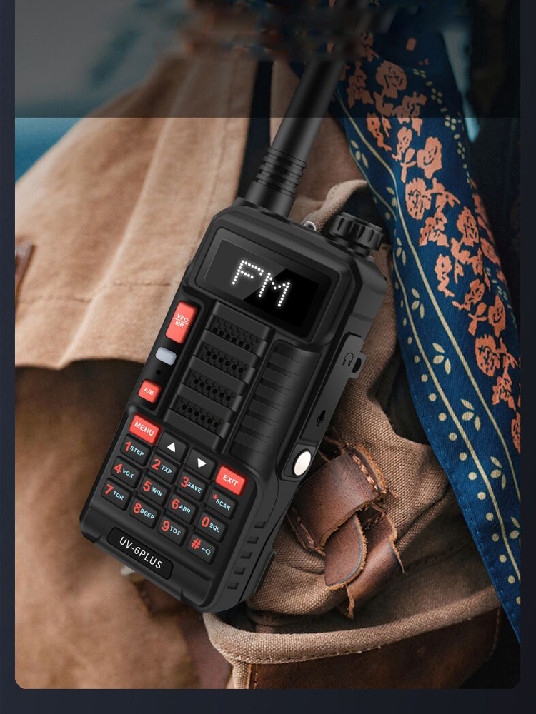 Baofeng VHF UHF Walkie-Talkie Dual-Band Two-Way-Radio Fast-Charging Uv-6-Plus Outdoor
