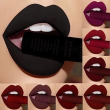Бренд qibest Макияж матовая помада для губ коричневый телесный черный цвет жидкая помада блеск матовая Batom матовая Maquiagem