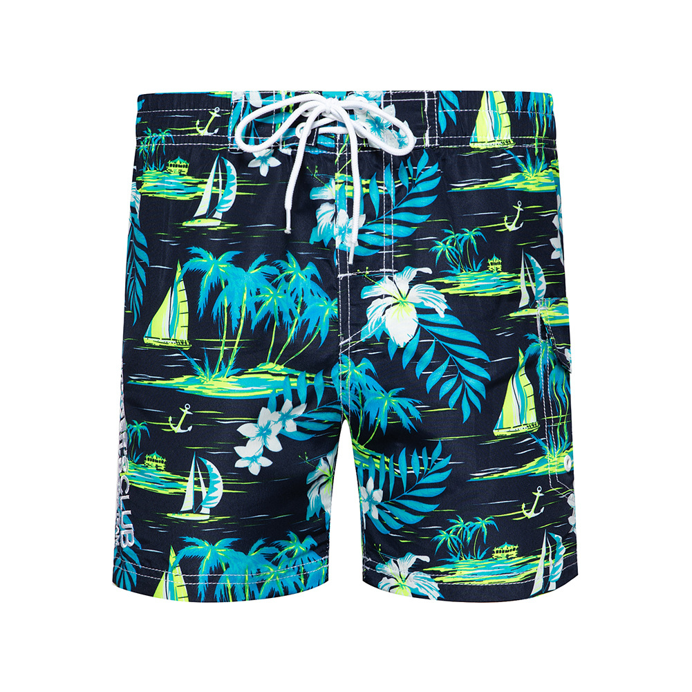 Mens Summer Vacation Beach Board Shorts Slim Fit Quick Dry Swim Trunks Surf Pant