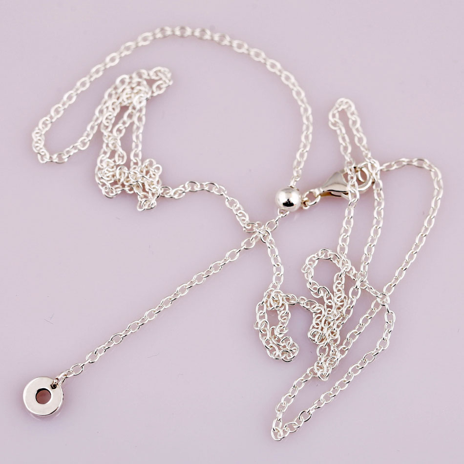 New 925 Sterling Silver Necklace Rose Gold & Silver Sliding Clasp Chain Basic Necklace For Women Wedding Gift Fine Jewelry