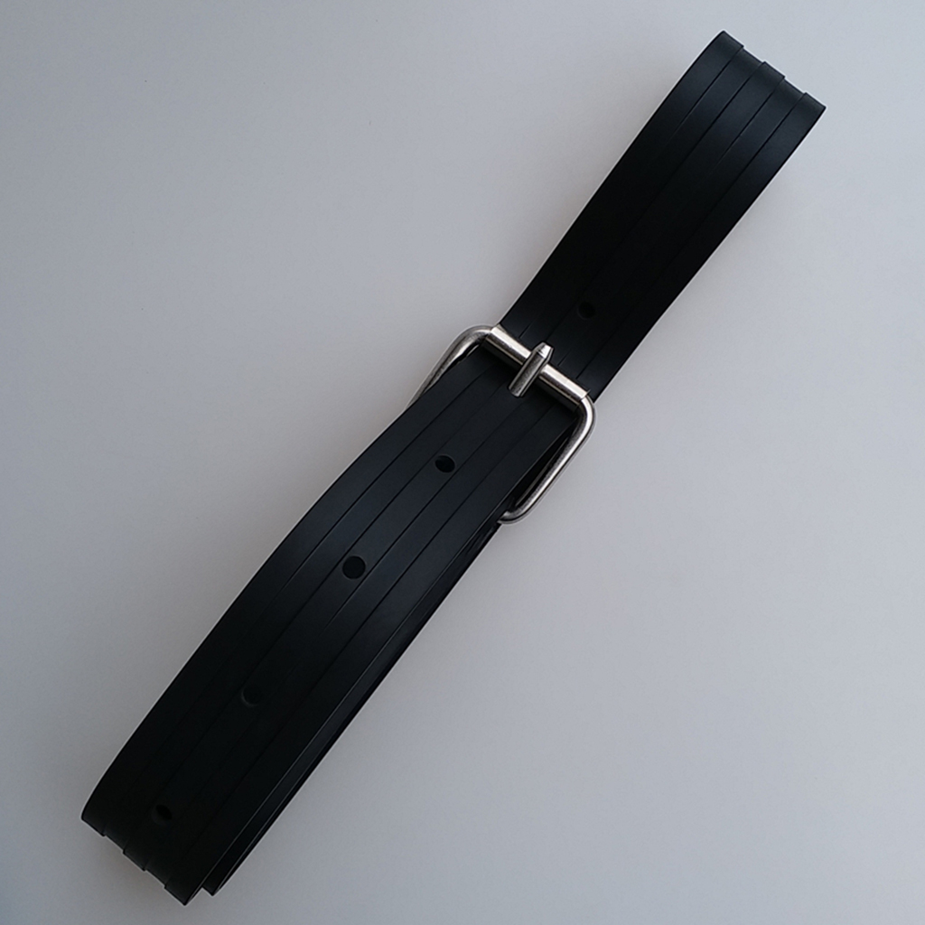 51inch Rubber Weight Belt With 2 Pockets For Diving Spear Fishing Snorkeling
