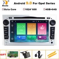 1024*600 4G+64G Octa Core Android 9 2 din Car DVD Stereo for Vauxhall Opel Astra H G Vectra Antara Zafira Corsa GPS Navi Radio