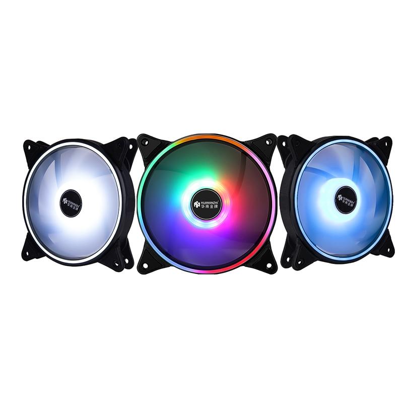 HUANANZHI AX120 PC Case Fan 12CM SYS Fan Case Radiators LED Noiseless Cooling Fan For Desktop