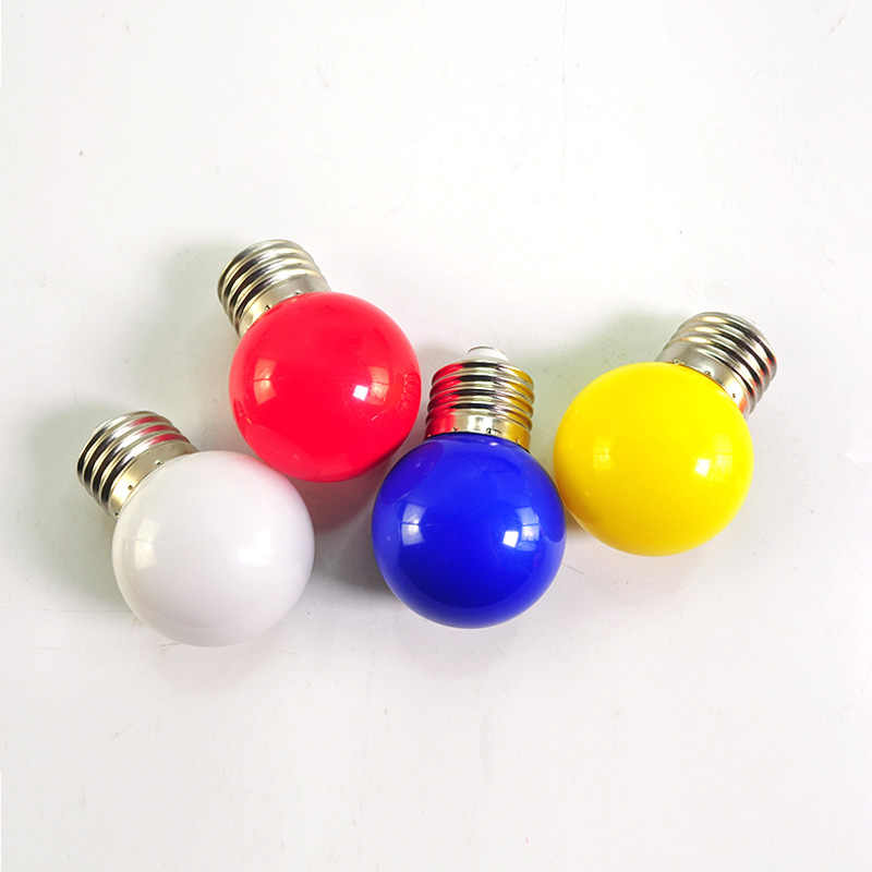 10pcs E27 LED หลอดไฟ LED ที่มีสีสัน Bomlillas โลก Lampada 3W 220V SMD RGB LED Light 2835 ไฟฉาย G45 LED หลอดไฟ Home LIGHT