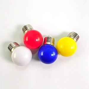 Image 3 - Led Bulb E27 led Lamp Bomlillas AC 220V 3W Colorful Globe Lampada 2835 SMD Led Light Flashlight 3W G45 Led Home lighting 20pcs