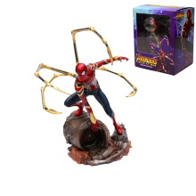 цена на 22CM Iron Studios Marvel Avengers Iron Spiderman 1/10 Scale PVC Statue Figure Spider Man Action Figure Collectible Model Toy