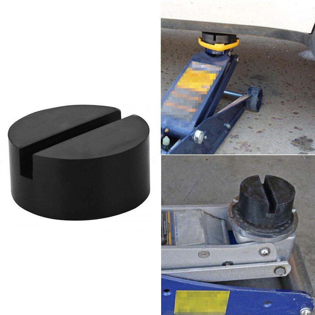 Trolley Hydraulic Disk Rail Protector Pad Jack Floor SUV Car Slotted Rubber Frame Block DIY Jacking