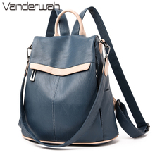 Ladies Backpack for School Sac A Dos Femme Female Shoulder Bags for Women Wide Canvas Strap Backpack for Teenage Girls Mochilas