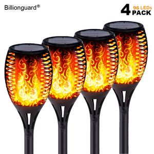 LED Solar Flame Lights Outdoor IP65 Waterproof Led Solar Garden Light Flickering Flame Torches Lamp for Courtyard Garden Balcony(China)