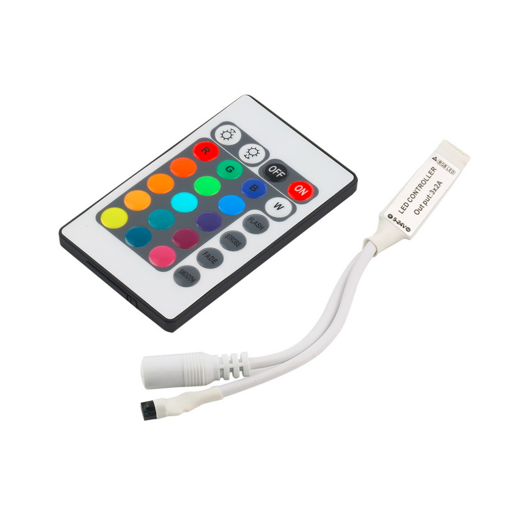 ICOCO Universal Infrared Mini 24 Key IR Remote Controller Wireless For 3528 5050 RGB LED Strip Hallways Stairs Home Used