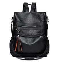 Винтажный кожаный рюкзак для женщин 12 л 2020 классические школьные