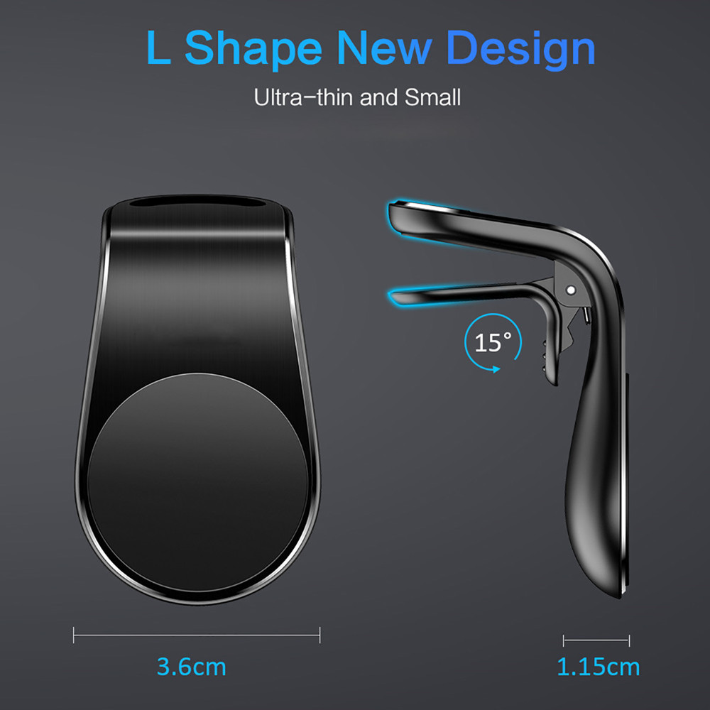 L-Shape Magnetic Car Phone Holder
