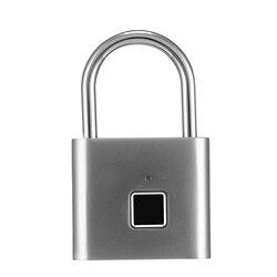 Inteligentna kłódka inteligentna blokada na linie papilarne przed kradzieżą blokada z użyciem linii papilarnych do torby elektroniczny zamek do drzwi kłódka na odcisk palca