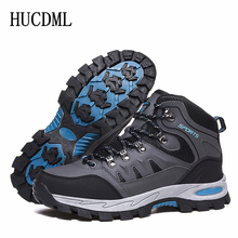 Hiking Shoes Sneakers Ankle-Boots Waterproof Winter Men's Warm HUCDML Outdoor Plush No