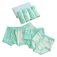Boys Underpants Boxers Children Shorts Teenagers Kids Cotton for Striped 2-16-Years 4pcs/Pack