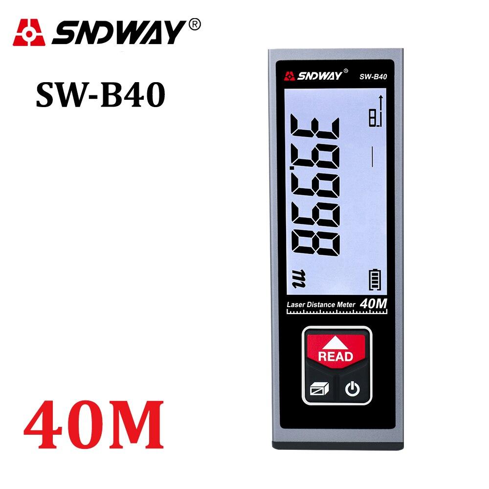 Лазер SNDWAY дальномер 40 м/50 м/60 лазерный дальномер лазерная рулетка Trena лазер для фотографирования с изображениями на Перезаряжаемые цифровой...
