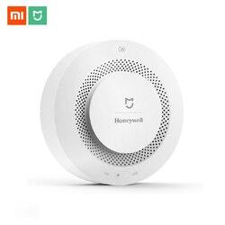 Original Mijia Feuer Alarm Gas Detektor Rauch Progressive Sound Alarm Unterstützung Fernbedienung APP Smart Home Sicherheit