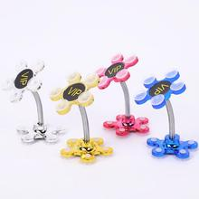 цена на Sucker Stand for Cell Phone 360 degree Rotatable Flower Magic Suction Cup Mobile Phone Holder Car Bracket Mount Compatible