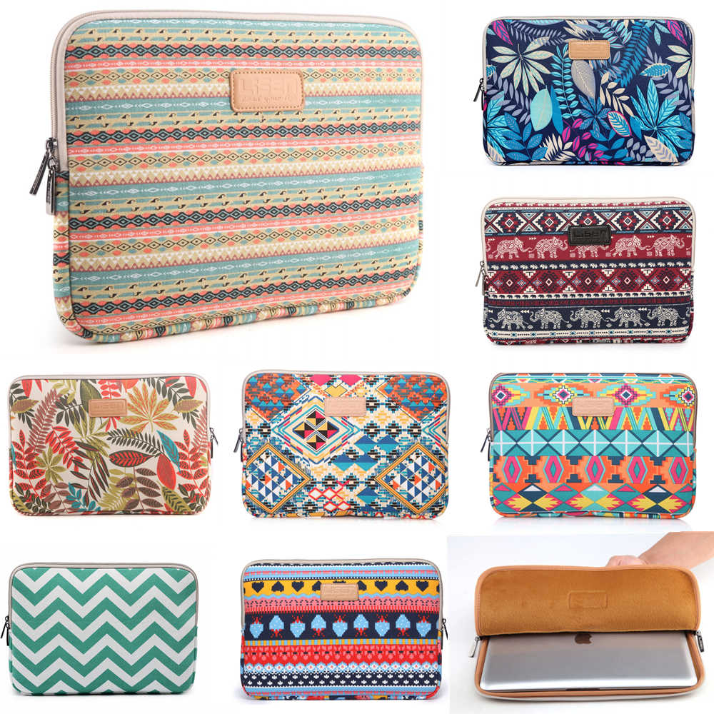 "Laptop Sleeve Case Casing untuk MacBook Air 11 Air 13 Pro 13 Pro 15 Inci Baru Retina 12 13 15 cover Notebook Tas 14 ""13.3"" 15.4 ""15.6"""