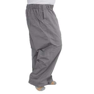 Image 3 - Plus size 8XL middle aged mens summer thin elastic band high waist cotton casual trousers Dad oversize 7XL 6XL 5XL 4XL