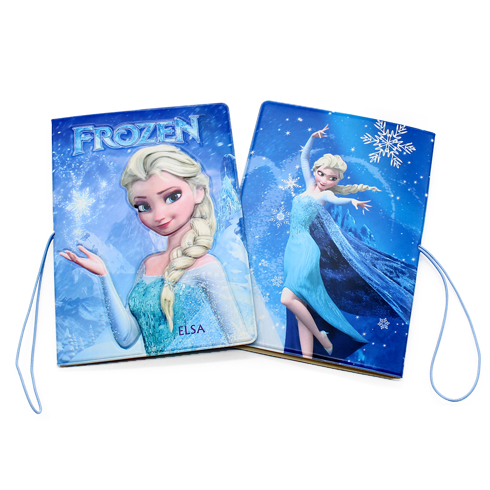 High Quality Frozen Anna And Elsa Princess Passport Cover Case Card ID Holders 3D Design Cartoon Travel Leather Passport Holder
