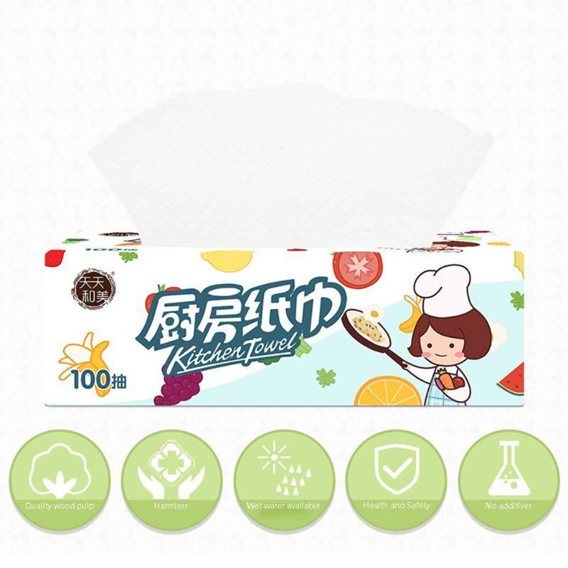 3SET Kitchen Paper Towel  Paper Hand Towel Dishcloths For Kitchen Eco-Friendly X7YB