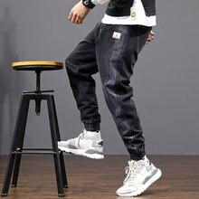 Мужские винтажные джинсы в полоску свободные дизайнерские брюки