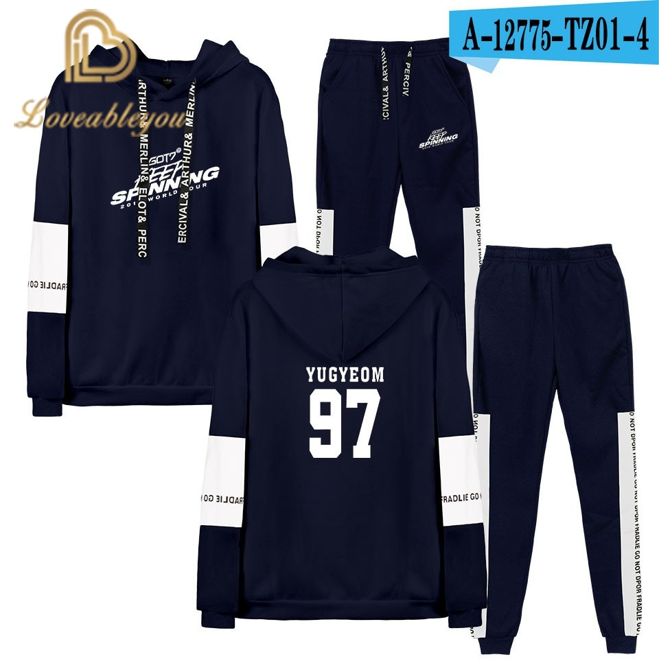 New Harajuku Hoodie Sweatshirt Suits Long Sleeve Sweatshirt+Pants Fashion Sets HAHA Joker Cool Fashion Casual Hoodie Sweatshirt